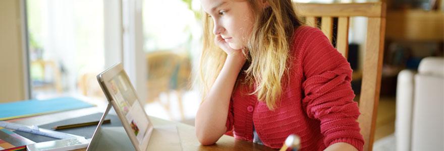 Soutien scolaire en ligne